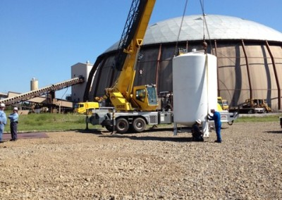 Nitrogen Tank Arrival and Placement