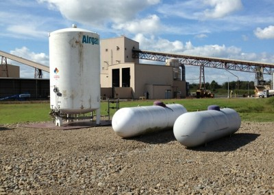 Propane Tanks in Place