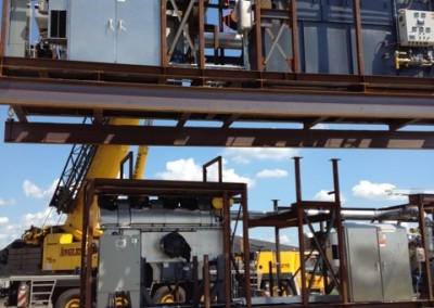 Unloading and Placement of Skid No. 2 The Devolatizer